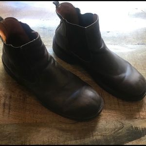 Frye brown leather boots size 11 slip on